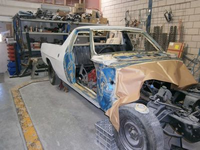 Yes this is a Ute full restoration respray project